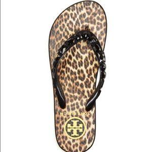 Tory Burch Jeweled Thin Flip Flops